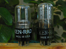 KEN RAD USA VT231 6SN7GT 6SN7 black plate strong pair of tubes one NOS