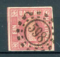 Altdeutschland Bayern MiNr. 3 I b gestempelt (U953