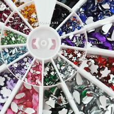 NUOVO 1200 x mixed-shape 12 Colore Cristallo Rhinestone acrilico Nail Art Deco # 9