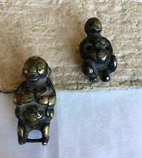 19th Cent Chinese Bronze Toggle Of Baby Boy