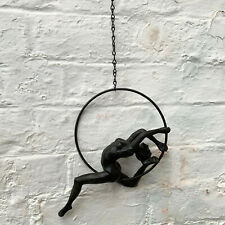 Wall Hanging Acrobat Gymnast In Ring Circle Home Figurine Ornament Decoration A