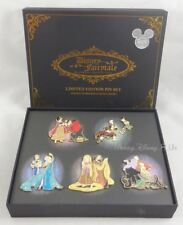 ARTIST SIGNED All 5 Disney D23 Expo Fairytale Designer Collection Pin Set LE1000