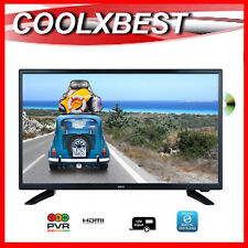"24"" FULL HD DIGITAL LED TV DVD PLAYER COMBO USB 12v 240v CARAVAN HOME PORTABLE"