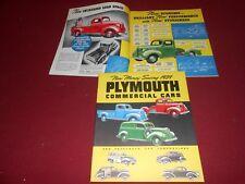 1939 PLYMOUTH PICKUP & PANEL TRUCK, WOODIE Etc. ORIGINAL 20 p. BROCHURE, CATALOG