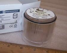 TELEMECANIQUE Clear Lens Beacon XVAC371 BA15d Lamp Steady Light.Stacking N43