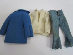 Vintage 1969 Barbie Ken Doll Fashion Clothing 1430 Town Turtle Pant Jacket Set