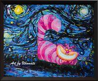 Alice in Wonderland Cheshire Cat Alice Wonderland Van Gogh Starry Night A009