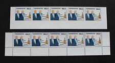 TURKMENISTAN - 1993 SCARCE PRESIDENT VISIT TO US MNH STRIP5 PERF & IMPERF RR