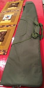 New with tags 3 handled Green Embroidered Beretta game keeper rifle case-WW ship
