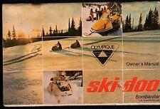 1971 SKI-DOO OLYMPIQUE SNOWMOBILE OPERATORS MANUAL NICE   (912)