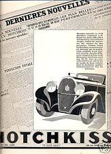 1933 - Publicité Automobile : HOTCHKISS