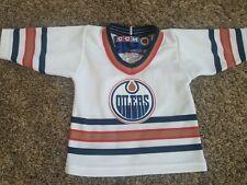 CCM NHL Edmonton Oilers Hockey Jersey - Toddler Sz Toddler Small S White