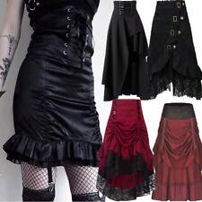 Punk Steampunk Gothic Skirt Medieval Victorian Renaissance Vintage Short Dress