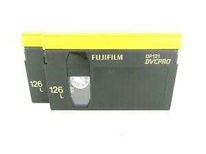 Lot of 2 Fujifilm DVCPRO 126min Tapes - DP121