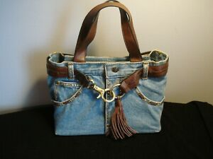 Very Nice...Blue Jean....Studded, Leather....Purse
