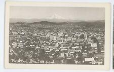 RPPC Aerial View Mount Mt Hood PORTLAND OR Vintage Real Photo Postcard