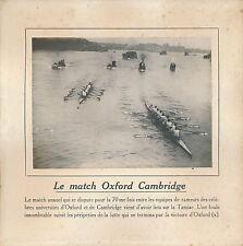 PHOTO PRESSE c. 1910 - Rameurs Universités Oxford-Cambridge UK - 168