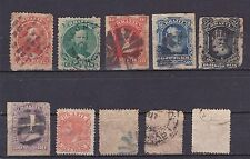 1882-87 Brazil SC# 53 // 92 Dom Pedro 10 stamps collection lot