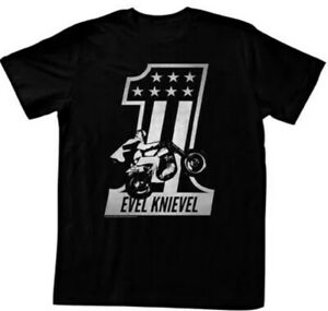 American Classics Apparel Evel Knievel One T-Shirt (Medium) (Black)