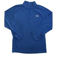 The North Face Mens Essential 1/4 Zip Tech Polartec Pullover Clear Lake Blue XL