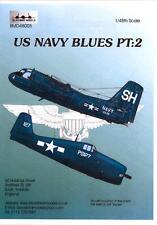 Blackbird Decals 1/48 U.S. NAVY BLUES Part 2 F6F Hellcat & S2 Tracker