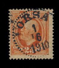 """SUÈDE / SWEDEN 1910 """"ORSA"""" (Type 14) on Mi46 25 Öre Orange"""