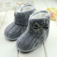 Newborn Toddler Baby Girls Snow Boots Winter Warm Fur Boots Soft Sole Crib Shoes