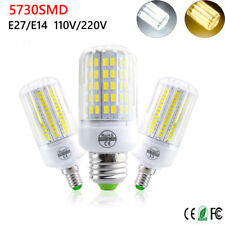 E27 E14 24 30 42 64 80 LED Light Bulb Smart IC Power 5730 SMD Corn Lamp 220V110V
