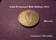 Irish predecimal BULL SHILLING 1955. AH3936.