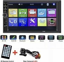 Bluetooth 2Din 7in Touch Screen GPS Car Stereo MP5Player AM FM Radio + FREE CAM