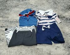Carter's Baby Boy Clothes Lot Size 6-9 Months Shark Zip Jacket Whale Shorts NWT