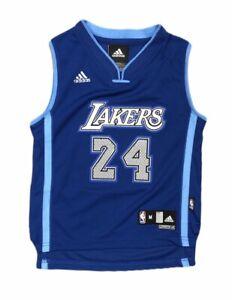 PRESCHOOL Los Angeles Lakers Kobe Bryant Blue Custom Adidas Swingman Jersey Size