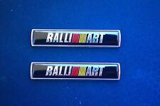 Black 2Pcs Ralliart Car Emblem Badge Decal Sticker Fender Fit for Mitsubishi