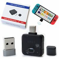 Wireless Type-C Audio Headset Transmitter Receiver PC Adapter for NS Switch PS4