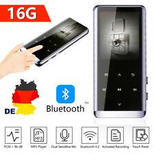 MP3 MP4 Player Bluetooth Touch-Control UKW FM Radio mit elegantem Metallgehäuse