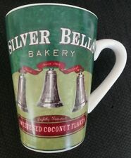 "ONEIDA ""Holiday Baking"" Silver Bells Bakery Cup Stoneware Mug Coconut Green EUC"