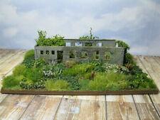 Lost Places: Ruine Haus Diorama Landschaft Modelleisenbahn H0 1:87 #159
