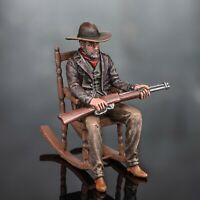 bemalt Zinnfigur Wild West Battle Cowboy Sharpshooter, Hunter Gangster Thug 54mm