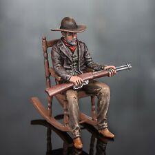 bemalt Zinnfigur Wild West Battle Cowboy Sharpshooter, Hunter Gangster Thug 54mm