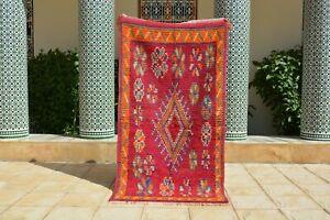 "Moroccan rug, Boujaad rug, beni ourain rug Vintage Moroccan Boujad Rug 5'8""x 3'3"