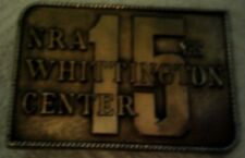 1988 NRA National Rifle Association 15 Years Whittington Center Belt Buckle