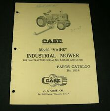 CASE VAIH5 Industrial Mower For VAI Tractors Parts Manual Book Catalog List OEM