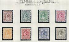 TransJordan 1942 Emir Abdullah perf 13½ no wmk complete MINT set sg222-229