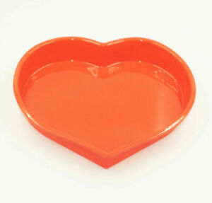 Red Silicone Heart Shaped Mould Tray Ice Soap Chocolate Cake Wedding Love Pan