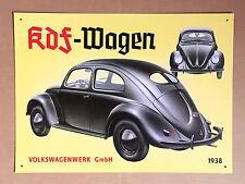 VW Volkswagen Beetle KDF-Wagen - Tin Metal Wall Sign