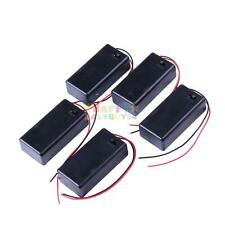 5Pcs 9v Battery Holder with ON/OFF Switch 9 volt Box Pack Power Toggle