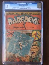 Daredevil Comics #10 CGC .5 RARE WWII Harakiri Cover Off-white only 8 on census