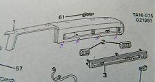 Chevy GMC Truck Dash Hardware Clips Bolt Screw GM Pickup 81 82 83 84 85 86 87 CK