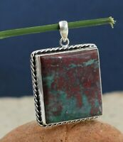 Solid 925 Sterling Silver Jewelry Picasso Jasper Gemstone Woman's Gift Pendant