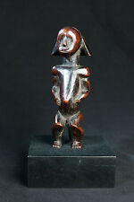 Fang, Seated Reliquary Statue, Central Gabon, African Tribal Art.